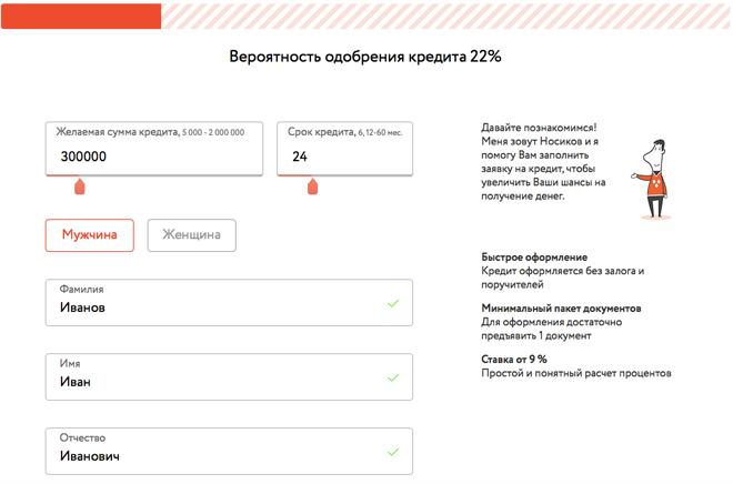 пакет документов для получения кредита Пулковская улица